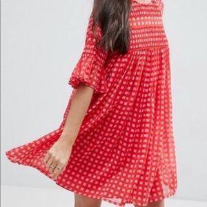 ASOS Gingham Smock Dress